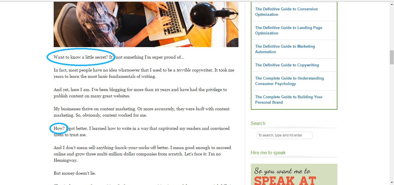 QuickSprout blog post