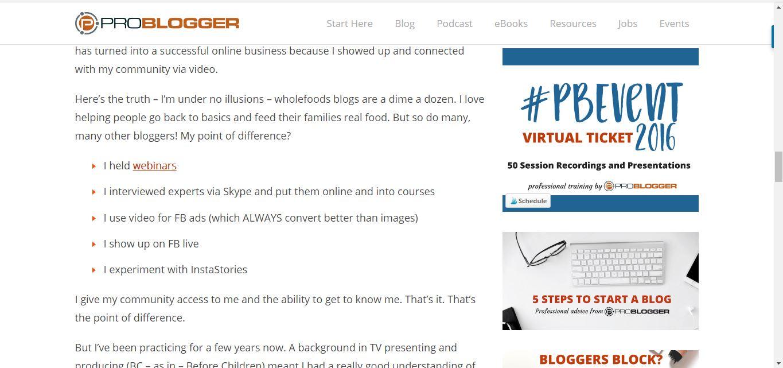 ProBlogger blog post